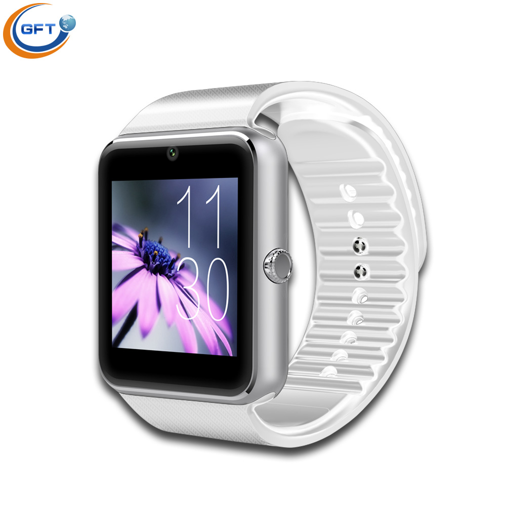GFT Smart Watch GT08 Clock Sync Notifier Support Sim Card Bluetooth Connectivity for Apple iphone Android