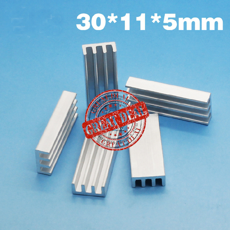 Free Shipping Wholesale 100PCS Aluminum Router Heatsink 30*11*5MM  High Quality Thermal Block Radiator