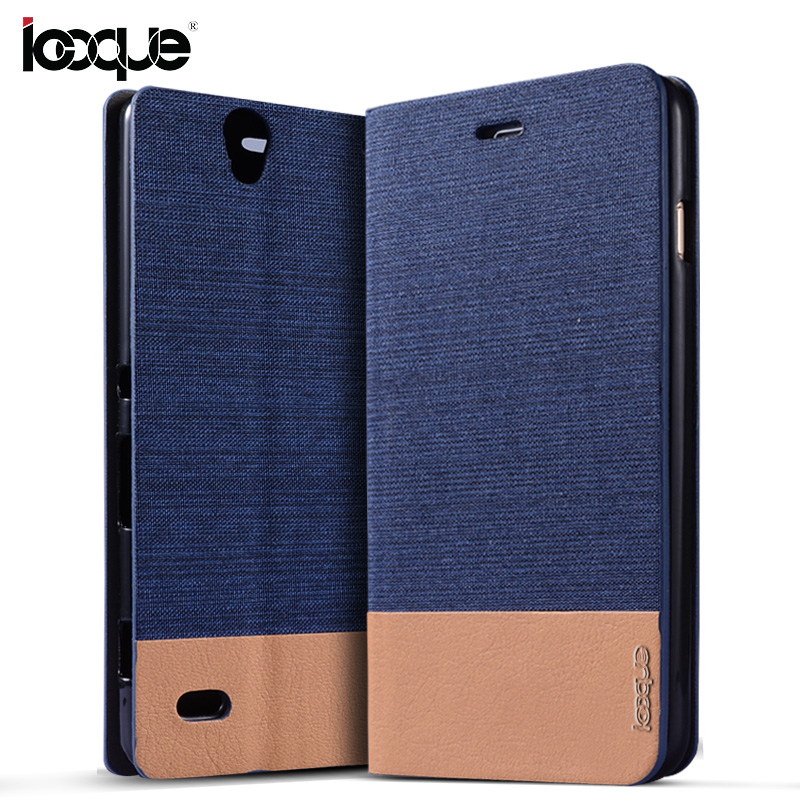 iCoque Flip Cover For Sony Xperia C4 Case Coque Canvas PU Leather Wallet Case For Sony Xperia C4 Phone Flip Case Capa Fundas