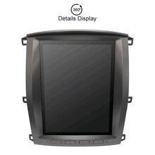 Бесплатная DVR и cam И карта Тесла стиль Android 7,1 автомобильный мультимедийный плеер блок для Toyota land cruiser lc100 2002-2007 gps навигации радио