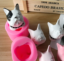 HEARTMOVE Cute French Bulldog Silicone Cake Fondant Sugarcraft Mold DIY 3D Dog Chocolate Baking Soap Candle Mould 9787 dress 9787