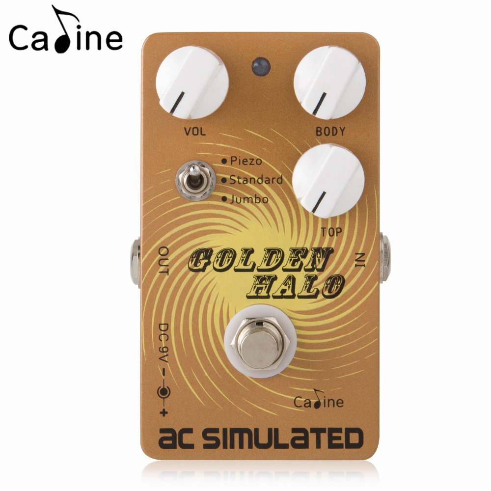 Caline Guitar Effect Pedal AC SIMULATED with Piezo Standard and Jumbo Modes True Bypass mooer ensemble queen bass chorus effect pedal mini guitar effects true bypass with free connector and footswitch topper