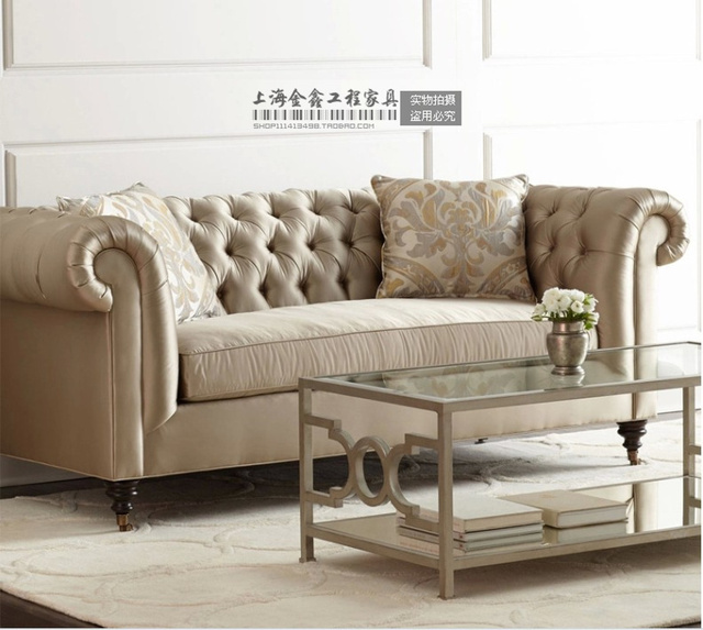 European Fabric Sofa Modern Set And American Country French Living Room