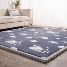3 см толстые татами ковры коралловый флис спальня гостиная коврик детский коврик для ползания детский игровой ковер детская комната машинная стирка коврики