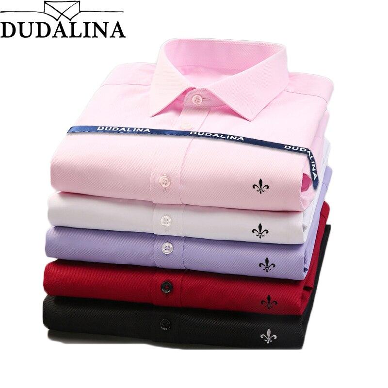 Dudalina 2020 แบรนด์ชายเสื้อชายเสื้อผ้าเสื้อแฟชั่นของผู้ชายสบายๆธุรกิจเสื้อแขนยาวอย่างเป็นทางกา...