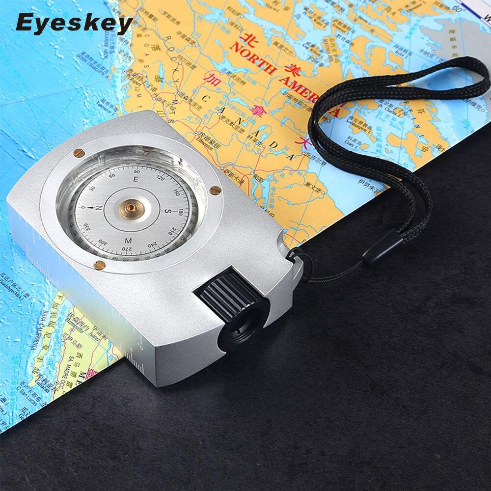Eyeskey Multi Survie fonctionnelle Professionnel Boussole Camping Randonnée Boussole Boussole Numérique Carte Mesureur Distance Calculatrice