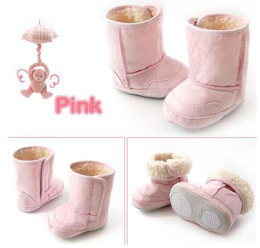 SH55, 1 пара, Детские/Детские сапоги, зимние сапоги, обувь, 2 цвета, для 0-2 лет - Цвет: Pink