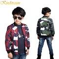 Kindstraum 2017 muchacho de la manera del algodón cabritos de la chaqueta de bombardero chaqueta caliente outwear niños ocasional camuflaje chaqueta de béisbol, MC324