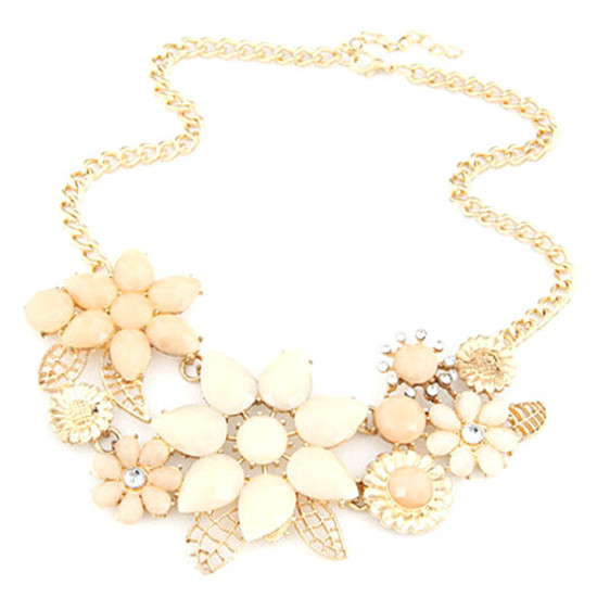 Women Jewelry 2016 New Vintage Jewelry Flower Choker Charm Rhinestone Retro Statement Necklaces & Pendants Gift