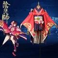 Mano Gira Onmyoji Kagura Despertar Flor Vestido Oscuro Kimono Outfit Cosplay