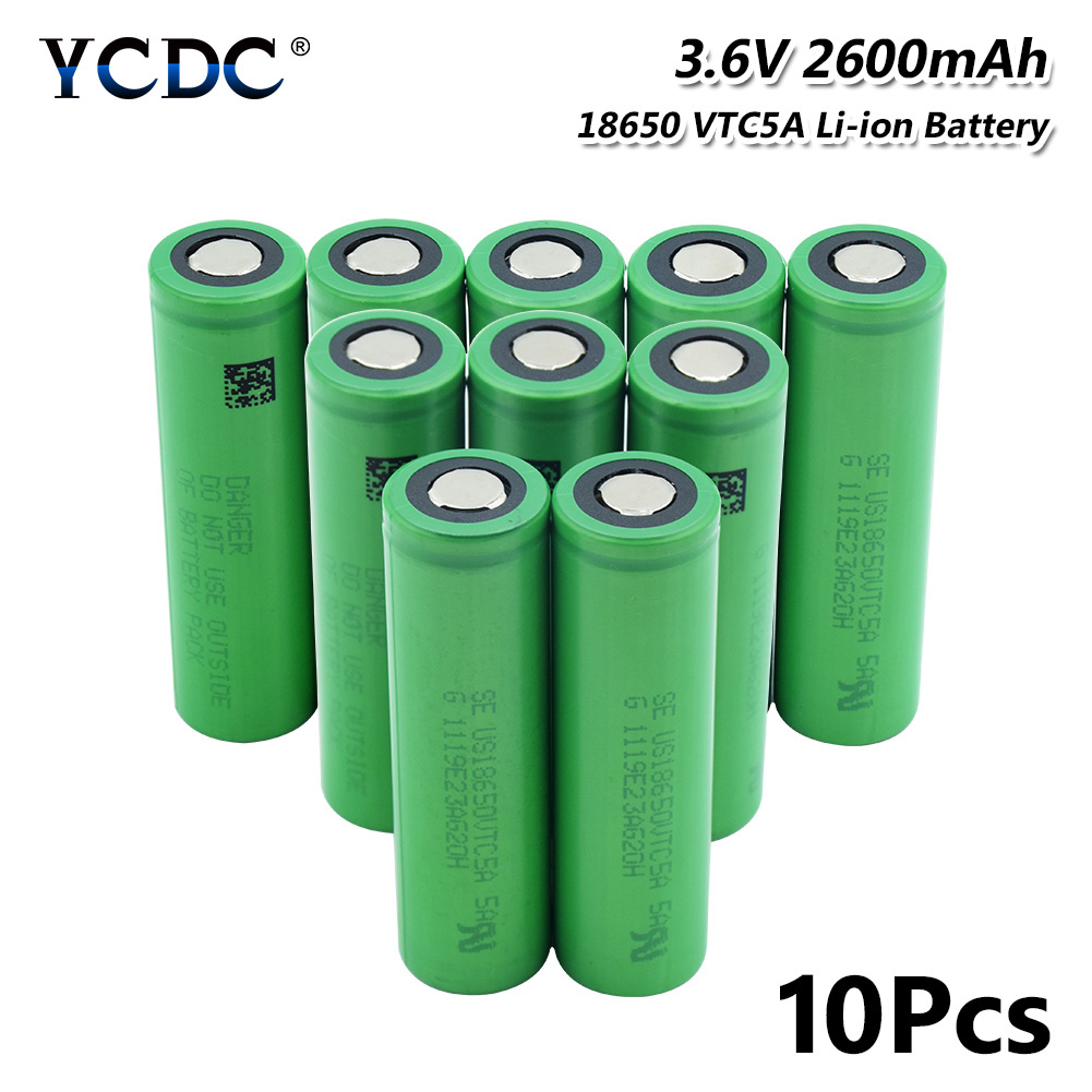 Obliging Ycdc 35a High Drain Vtc5a 18650 2600mah Li-ion Lithium Battery Real Capacity For Flashlight Headlight Batteries Power Source Replacement Batteries
