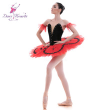 Новинка! Черный Бархатный лиф, балетная пачка для девочек, женские балетные костюмы-пачки для балерины, блинная плоская пачка для детей Bll0029