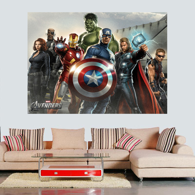 Free shipping1 piece The avengers painting poster 24x36 inch free ...
