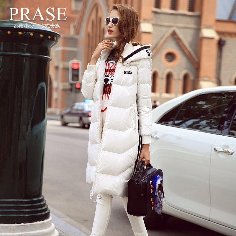 Womens Europe Station 2016 New White Winter WarmThick Long Down Jacket Female Duck Coats For Women Plus Size Ladies Fleece