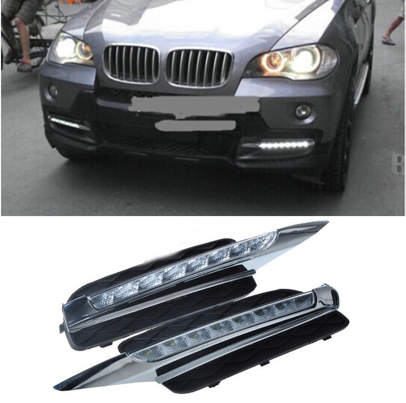 Drl For Bmw X5 E70 2007 2008 2009 2010 Daytime Running Lights Daylight Car Led Fog Head Lamp