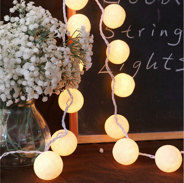 M Pcs Cotton Ball Light Curtains String Aladin Led Lamp Warm White Fairy Lights Led Garlands Decorative Lights For Weddings In Led String From Lights