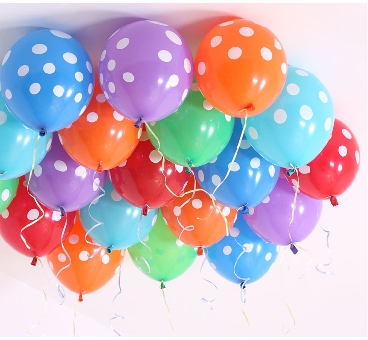 10pcs lot 12inches Polka Dot Latex Balloons Wedding Decoration Birthday Party Baby Shower Inflatable Helium Balloons 10 Colors in Ballons Accessories from Home Garden