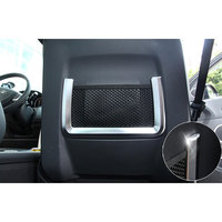 2PCS PAIR Interior Front Seat Back Rear Storage Net Cover Trim Strip Decoration For 2015 Discovery