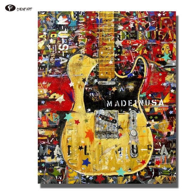 Best Chenfart Wandbilder Leinwand Kunstdruck Poster Gitarre Lgemlde  Dekorative Bilder Fr Badezimmer Kein Rahmen With Badezimmer Poster