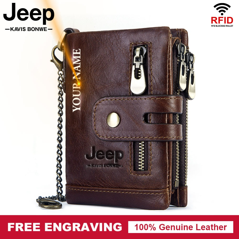 Men Wallet Card-Holder PORTFOLIO Coin-Purse Vintage Male Small Mini Genuine-Leather Hasp