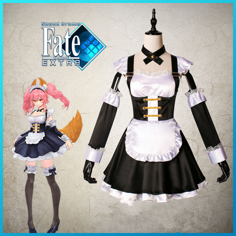 COSREA Fate Grand Order Tamamo no Mae Cosplay Costume fgo Fate Extella Lolita Apron Dress Costumes Halloween Party For Woman