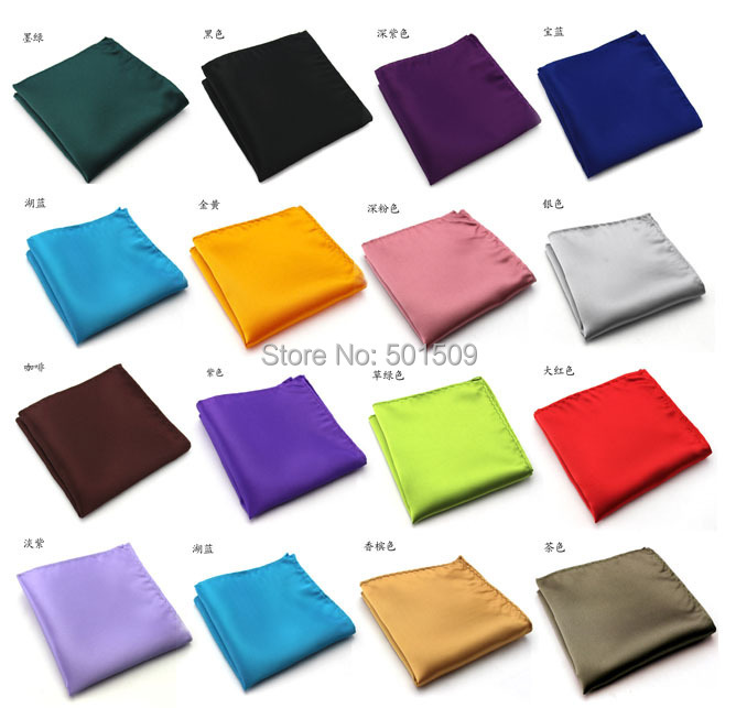 Free Shipping Mens Satin Handkerchief/pocket Square/tuxedo Accessory 22x22cm