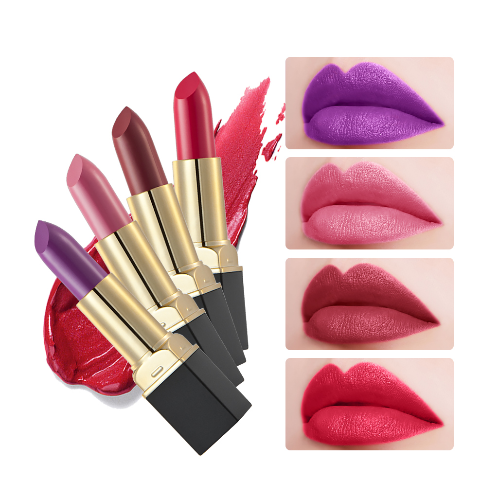 12 styles Makeup Red Lips Matte Velvet Lipstick Pencil Cosmetic Long Lasting ...