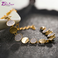 Top Quality Zirconer Bracelet For Women New Trendy 18K Real Gold Plated Jewelry Shiny Colorful Zircon Bracelet ZB002