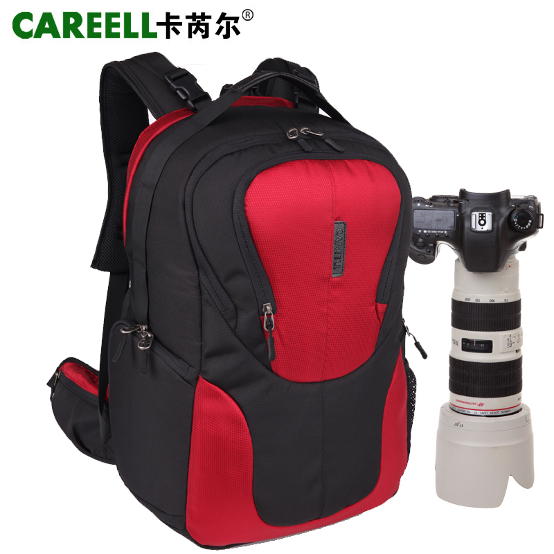 CAREELL large capacity slr digital camera bag professional after anti-theft outdoor bags backpack 3018 yingnuost d66 anti theft multifunctional waterproof backpack digital camera shoulder oxfords with inner bag large capacity
