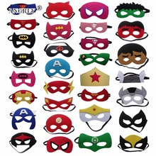 Superhero Mask Cosplay Superman Batman Spiderman Hulk Thor IronMan Princess Halloween Christmas kids adult Party Costumes Masks