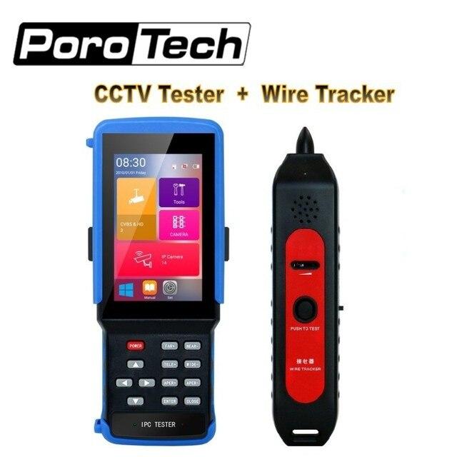 """4.3 """"HD H.265 IP CCTV Tester Monitor con wire tracker tracer AHD CVI TVI CVBS Analogico wifi Della Macchina Fotografica Tester 8MP RJ45 TDR ONVIF POE"""