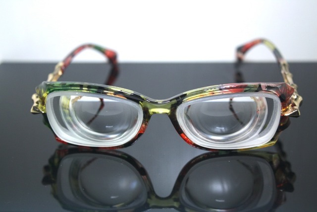 Custom Made Available Fashion Women Lady Girl High Myopic Myopia Myodisc High Strength Nearsight Glasses -16d Pd62