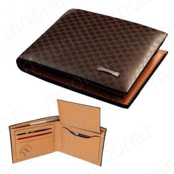 2017 Men Wallet Genuine + PU Leather Plaid Wallet Male Bag Brand Men Wallets Handbag Purse lukmall iphone case