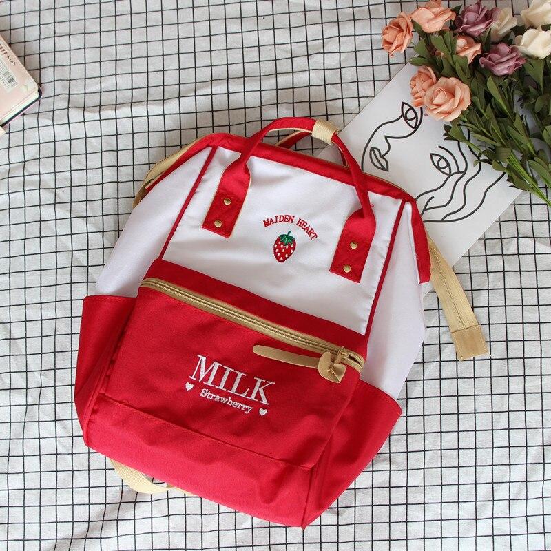 Yellow Backpacks Harajuku Cute Backpack For Teenage Girls Kawaii Strawberry Book School Bags Pink Mochila Laptop Travel Bag Pack