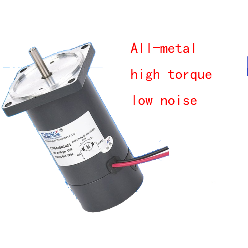 DC motor ZYTD-50SRZ-6F1 12V24V, all-metal gear, high torque, low noise, CW/CCW, all aluminum shell pure copper motor цена