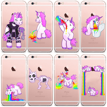 Funny Unicorn Lovely interesting Design Case For iphone 4 4S 5 5C 5S SE 6 6S 6 PLUS 6S PLUS
