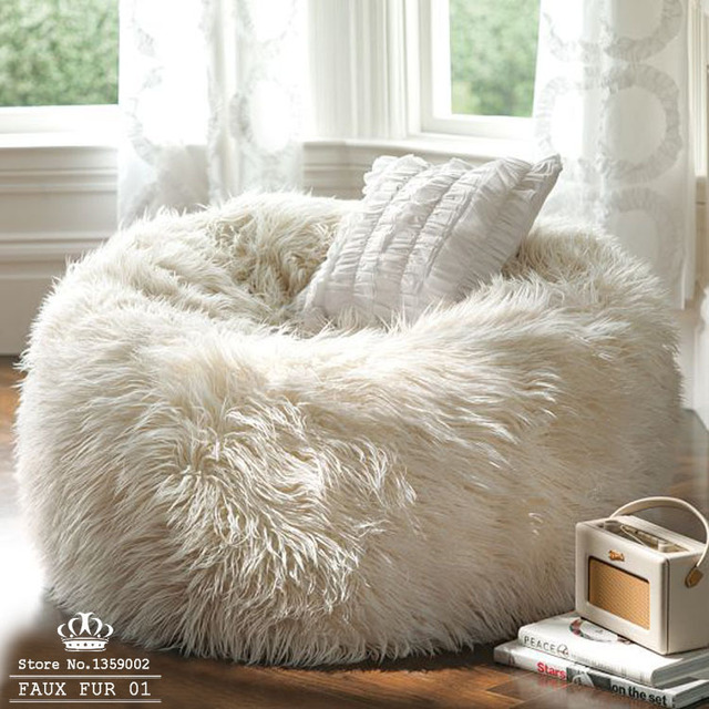 bean bag chair covers wooden library big size faux fur 01 furniture sofa adault cover sapateira korss lounger chairs bed without filler