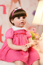 2019 fashion Baby Toys bebe Reborn Dolls smooth hair Babies 3/4 Silicone Doll Reborn Best Gift For Children Bedtime doll NPK