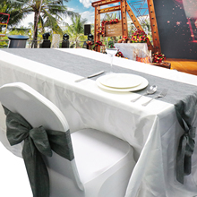 How To Make Chair Sashes Tufted Nailhead Dining Buy Linen And Get Free Shipping On Aliexpress Com 17x275cm Imitation Table Runner Wedding Sash Napkin Place Mat Party Home Textile Diy