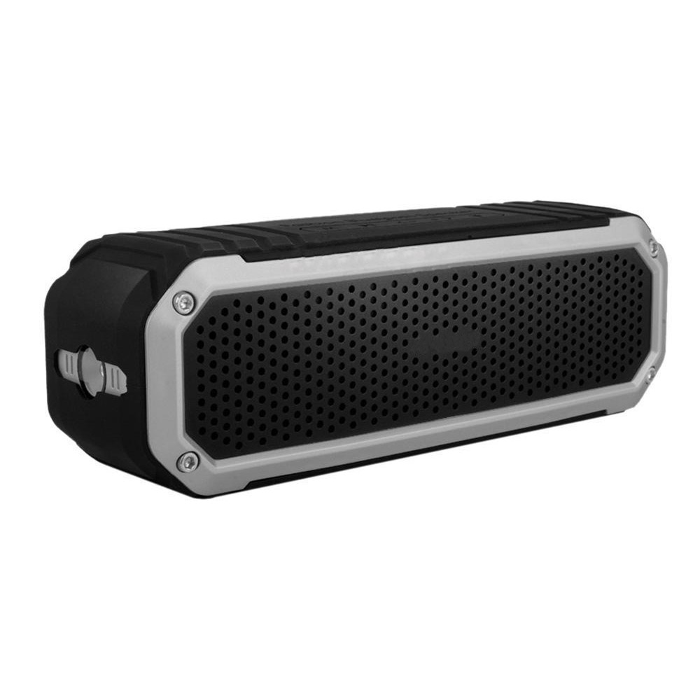 10W Wireless Bluetooth 4.0 Outdoor Stereo Soundbox Silver+Black
