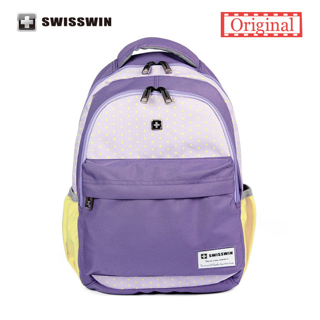 Hot Sale Schoolbag for girls Waterproof School Backpack Lovely Purple School Bags for Teens mochila escolar Daypack Women
