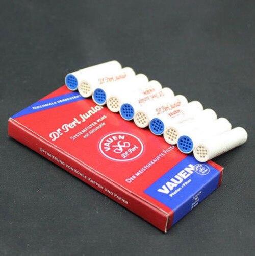 Filtro ativado do carbono da tubulação de fumo dos filtros 9mm da tubulação do tabaco de 100 pces para vauen