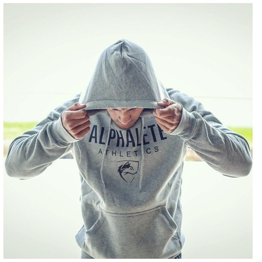 Nansha Men Gyms Hoodies Gyms Fitness Bodybuilding Sweatshirt Crossfit Pullover Sportswear Male Workout Hooded Jacket Clothing #3