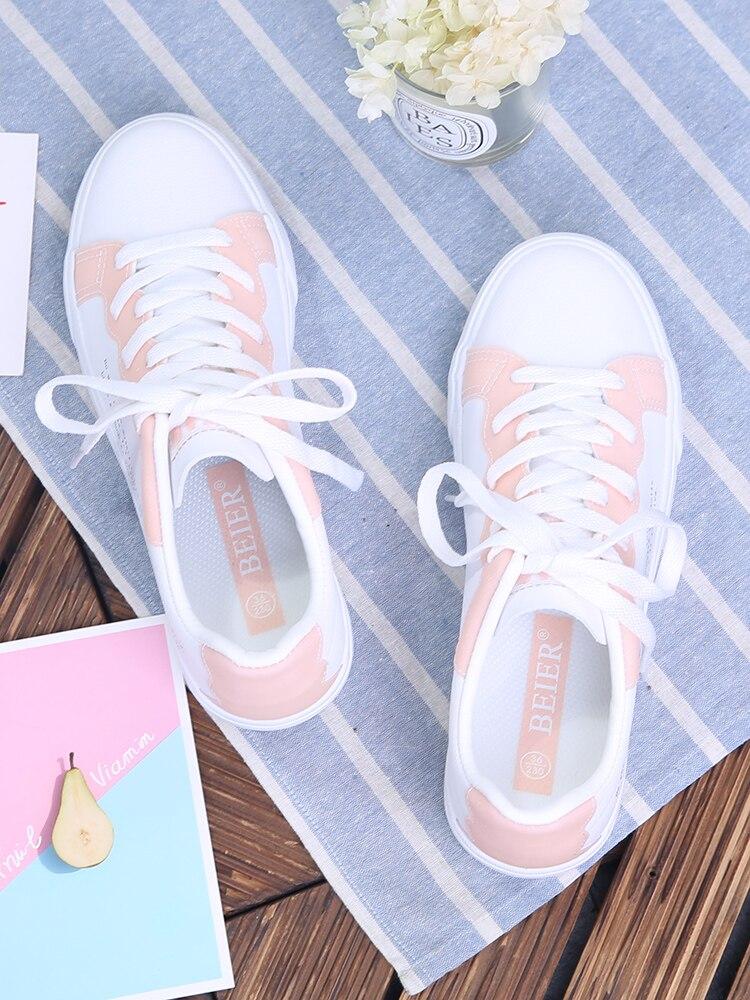 Plat Femmes lavande Chaussures Blanc 2018 Rose Casual Nouvelle De Femme blanc Été Mode Coréenne Sauvage Étudiants T7nzRnfw