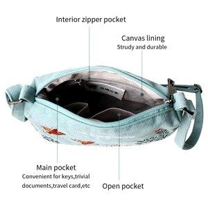 Image 3 - Çiçek prenses kadın Crossbody çanta yaz tuval nakış kızlar omuz çantaları kadın rahat çanta küçük çanta moda çanta