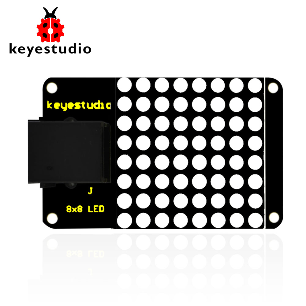 Keyestudio EASY Plug IIC I2C 8*8 LE D Dot Matrix Display For Arduino STEAM