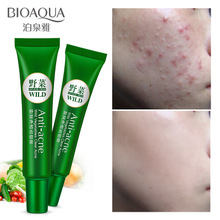 HOT BIOAQUA Brand Wild Vegetables Face Acne Treatment Skin Care Scars Cream Anti Remove Moisturizing Deep Clear