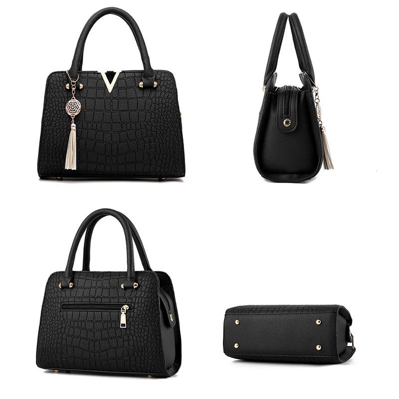 34e57fadbab Women Bag Luxury Brand Leather Handbag Women Messenger Bags Vintage  Shoulder Bag Ladies Large Totes Leather Top-Handle Bags