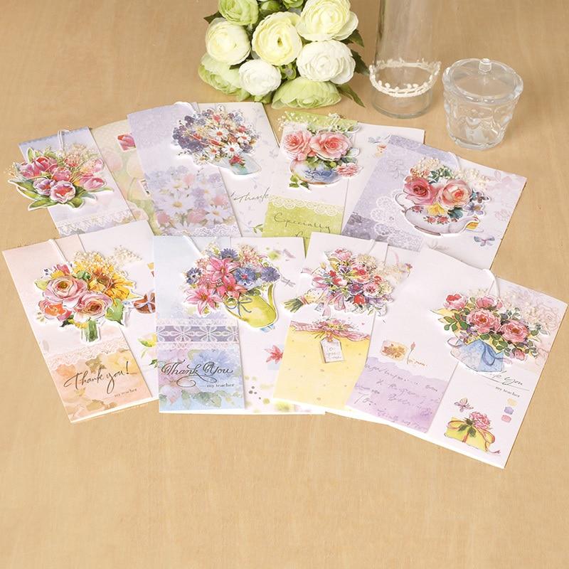 Indah Kartu Ucapan Untuk Hari Guru Dengan Menggantung Buket Bunga Greeting Cards Flower Greeting Cardscards Greeting Aliexpress