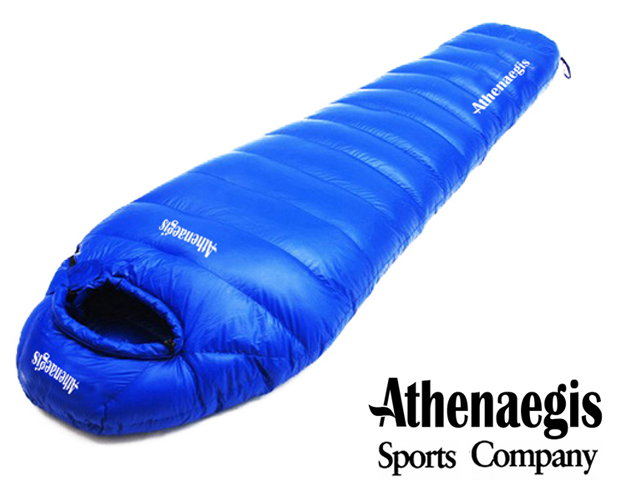 Athenaegis 1800G white goose down filling can be spliced mummy ultra-light goose down sleeping bag